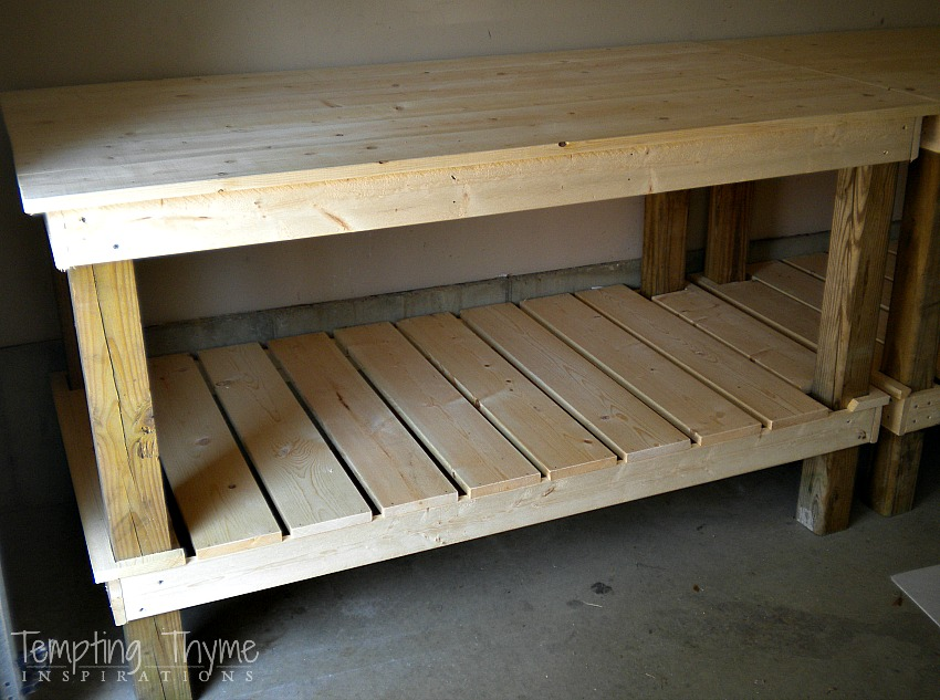 Diy Potting Bench Tempting Thyme
