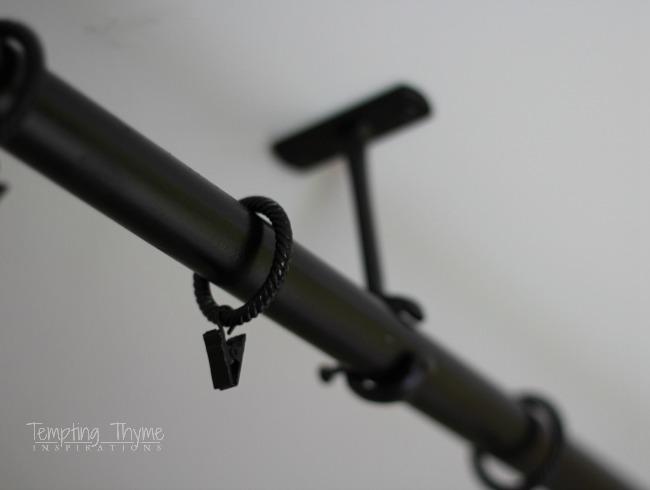 Spray Paint Shower Curtain Rod
