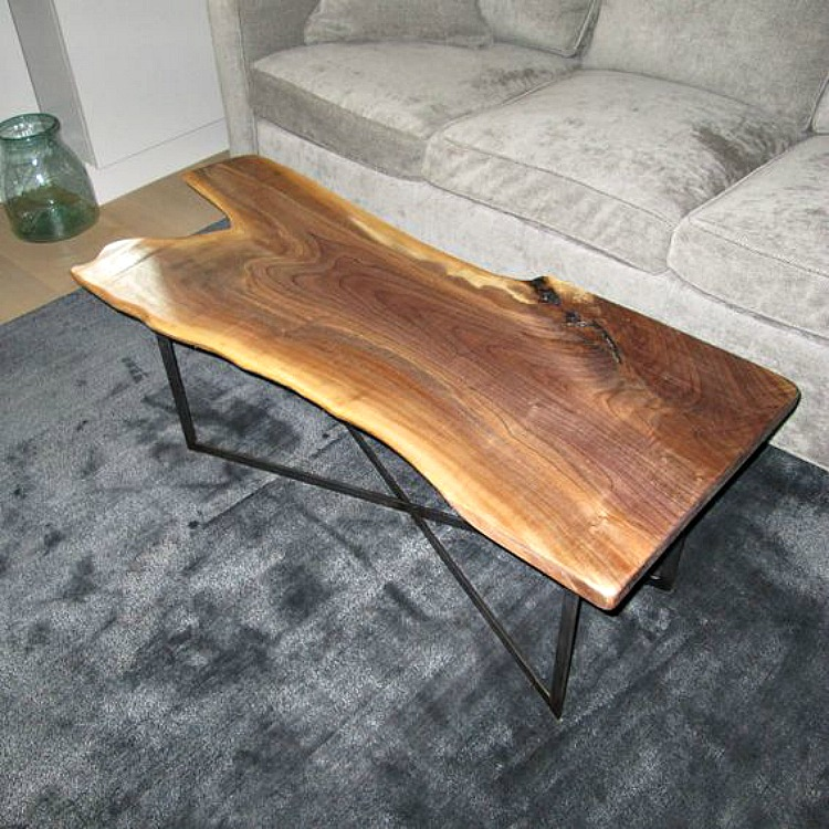 Live edge coffee table diy for Diy river table
