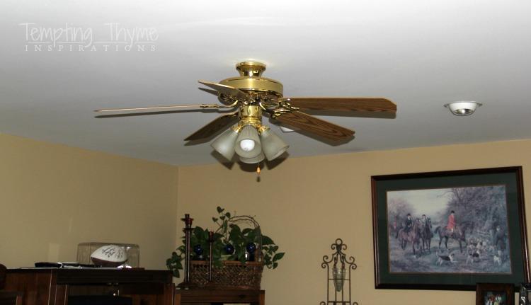 Ceiling Fan With A Little Paint