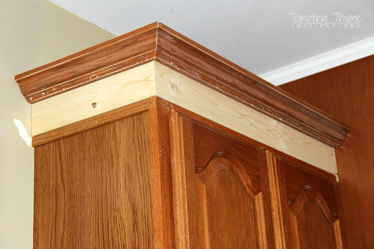 How To Add Crown Molding Existing Cabinets | www ...