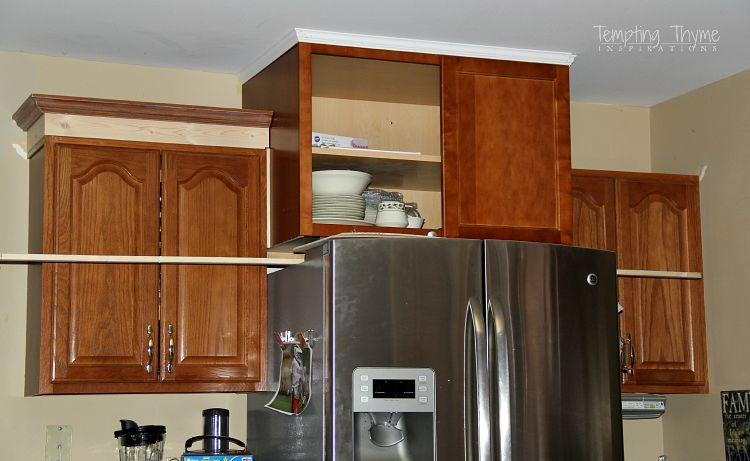 how to add height to kitchen cabinets adding height to the kitchen cabinets tempting thyme 16767
